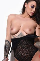 Mica Martinez In Her Black Bodysuit