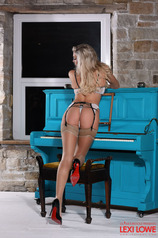 Lexi Lowe In Her Lingerie At The Piano