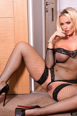 Lucy Zara In Fishnet Bodysuit
