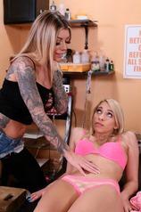 Lesbian Tattoo Artist Fun