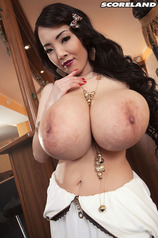 Asian Porn Star Hitomi Tanaka Rubs Her Large Boobs