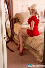 Bella French Strips Off Her Sexy Red Dress