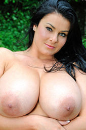 Karla James Huge Boobs In The Nature