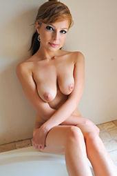 Phoebe Cute Girl Naked In Bathroom