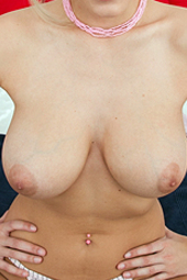 Busty Blond Keira Gets Naked