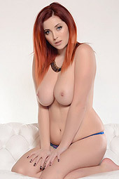 Sexy Lucy Vixen Peels Off Her Blue Lingerie