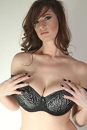 Lana Kendrick In Black Lingerie