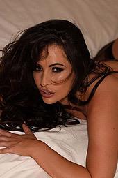 Anastasia Teasing In Sexy Black Lingerie