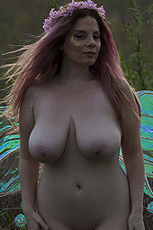 Avalon Posing Naked Outdoor