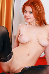 Violla A -busty Redhead In Stockings
