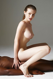 Lovely Emily Bloom In Interracial Nude Art Scene