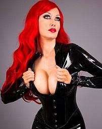 Fiery Redhead In Latex