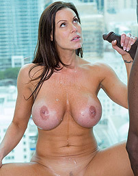 Big Boobed MILF Bitch Sucks A Huge Black Cock