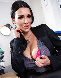 Busty Secretary Patty Michova