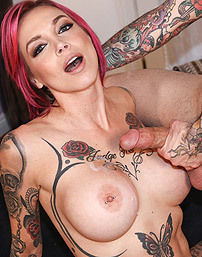Busty Tattooed Pornstar Anna Bell Peaks