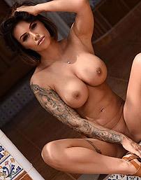 Busty Brunette Gemma Massey